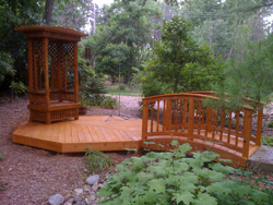 New Cedar Deck Sealed with TimberOil