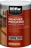 Behr Semi-Transparent Weatherproofing Wood Stain