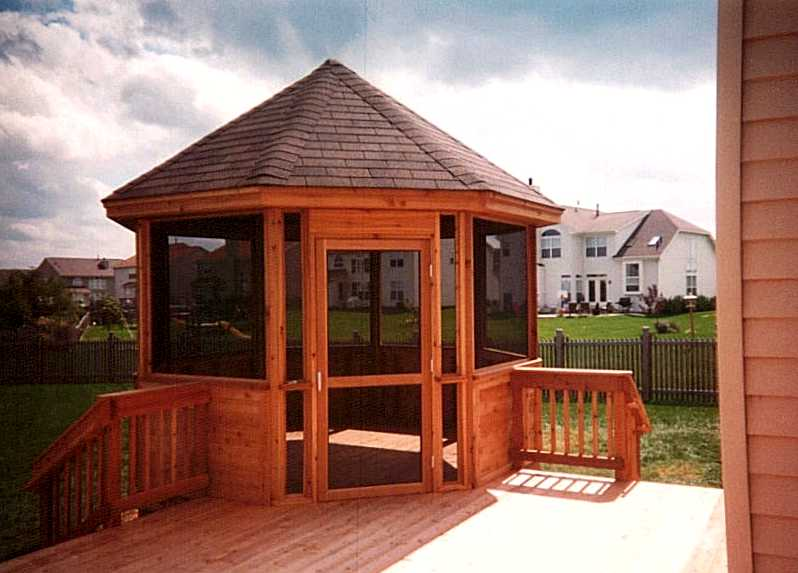 Deck staining best deck stain reviews ratings for Built in gazebo