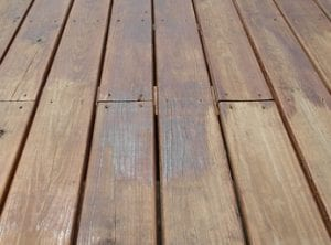 blotchy deck stain