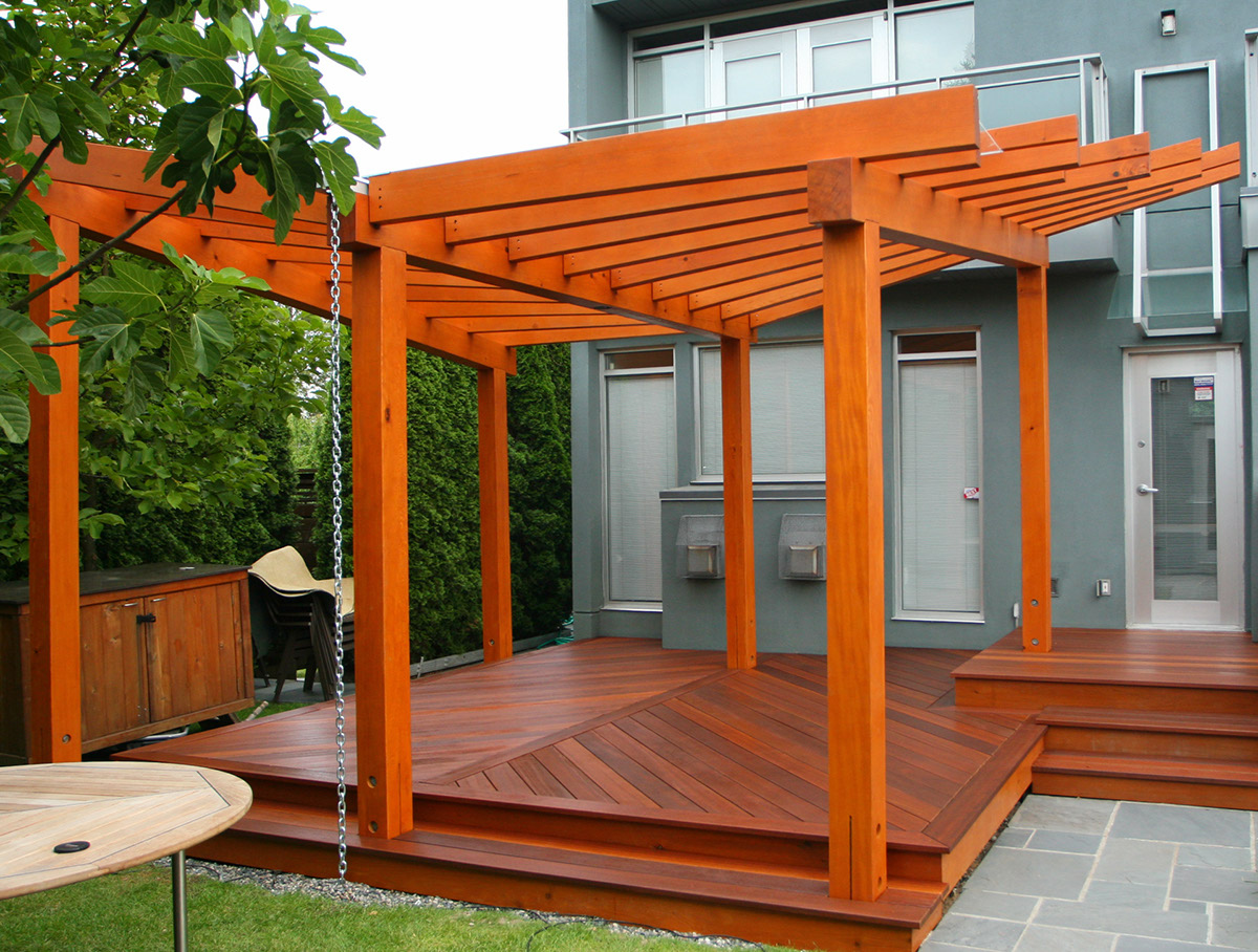 How To Stain A Wood Pergola Best Deck Reviews Ratings